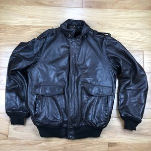 Vintage USA Made Fur Lined Schott Leather Jacket